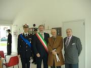 Il Sindaco di Bari, il Pres. Di Bitonto, il Comandate Donati e il Giornalista Dott. Pietro Vitale