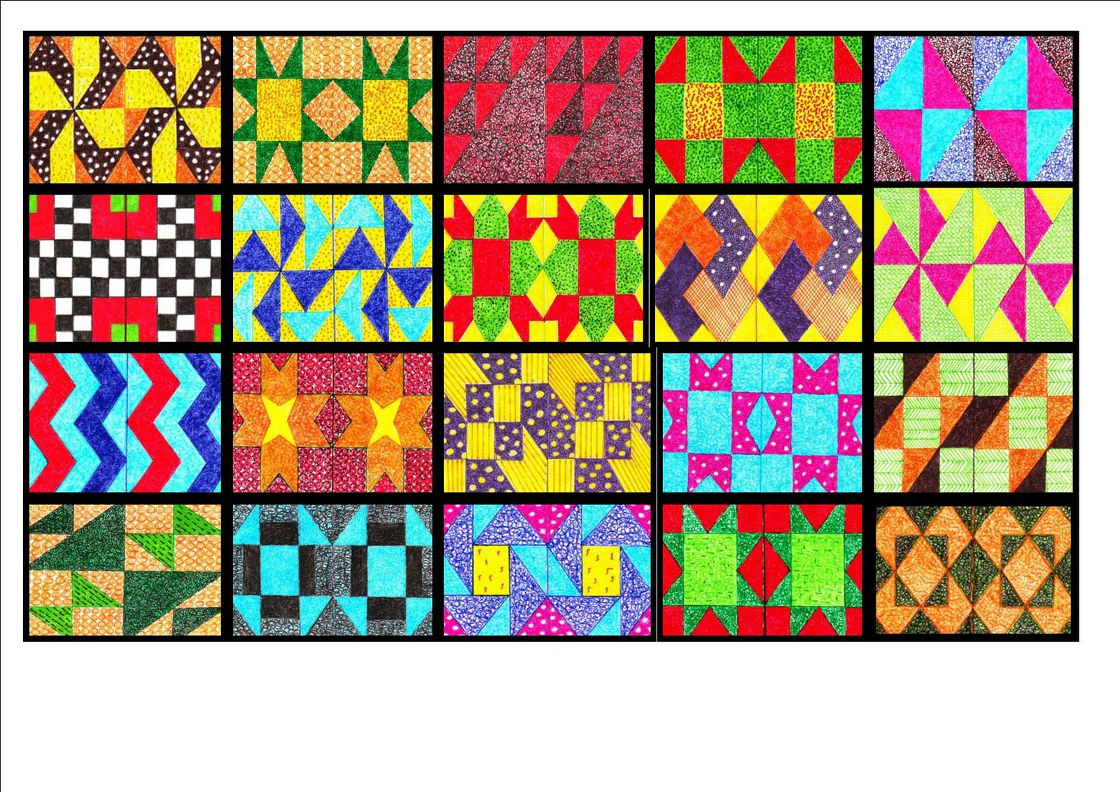 Val de Vries Art Blog: Patchwork Quilt Block Paintings continued. : quilt paintings - Adamdwight.com