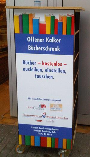 Köln-Kalk: Offener Kalker Bücherschrank