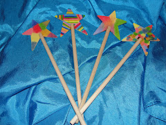 Rainbow Star Wands