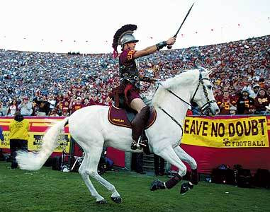 Football  Glorious football University Of Southern California Mascot