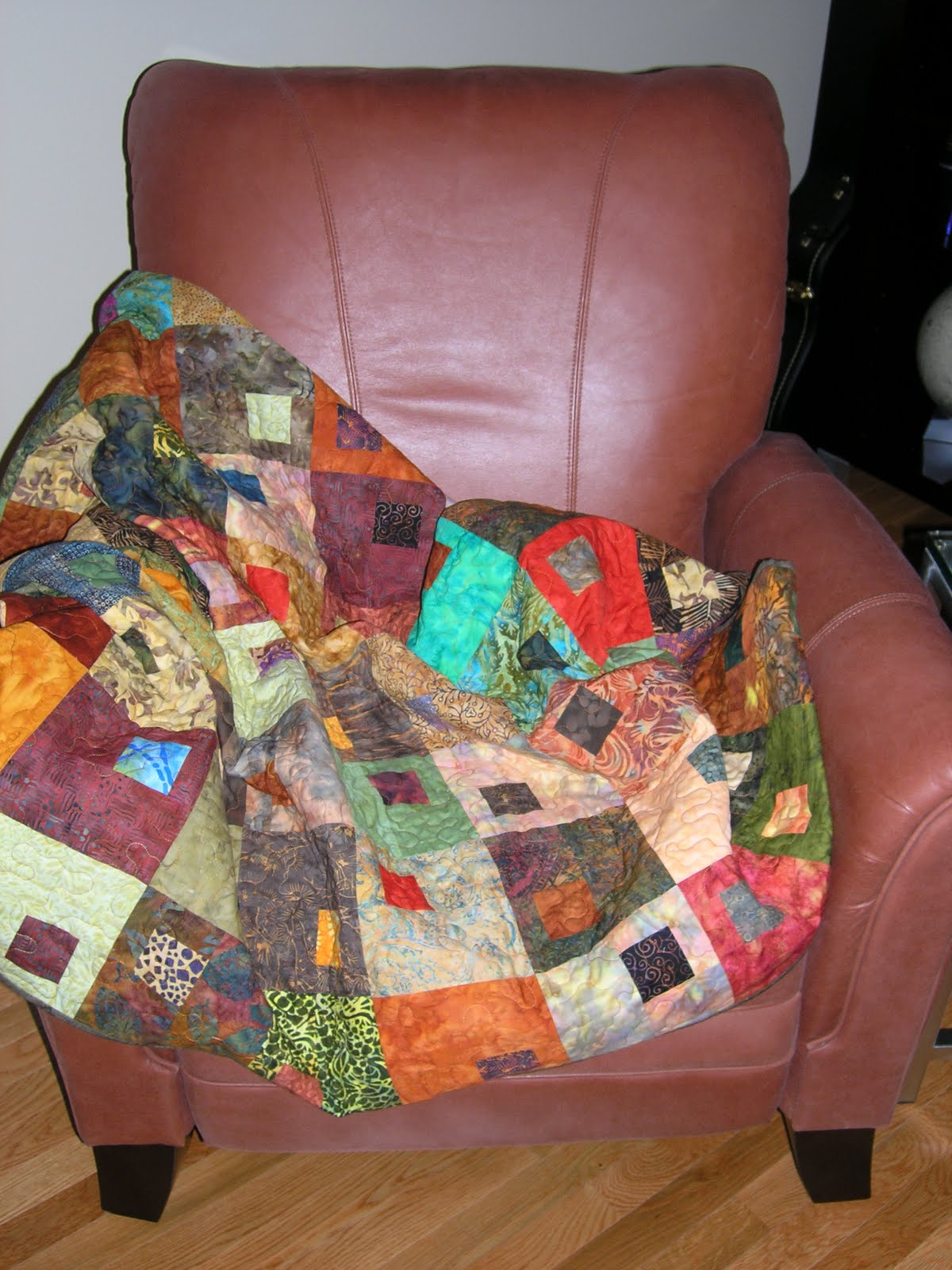 Sew........This Is My Blog: Of Quilted Throws and Leather Chairs : leather quilt - Adamdwight.com