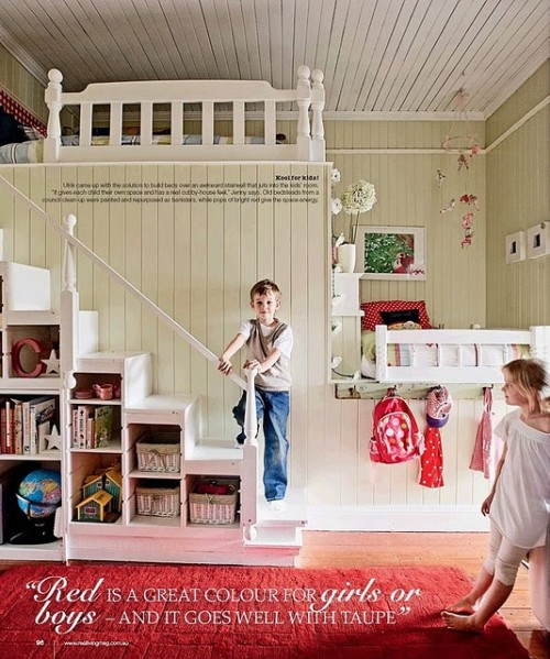 Sarah's Inspire Index: Shared Boy/Girl Bunk Bed
