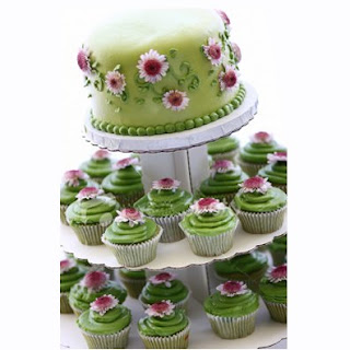 Green Cupcake Wedding Cakes