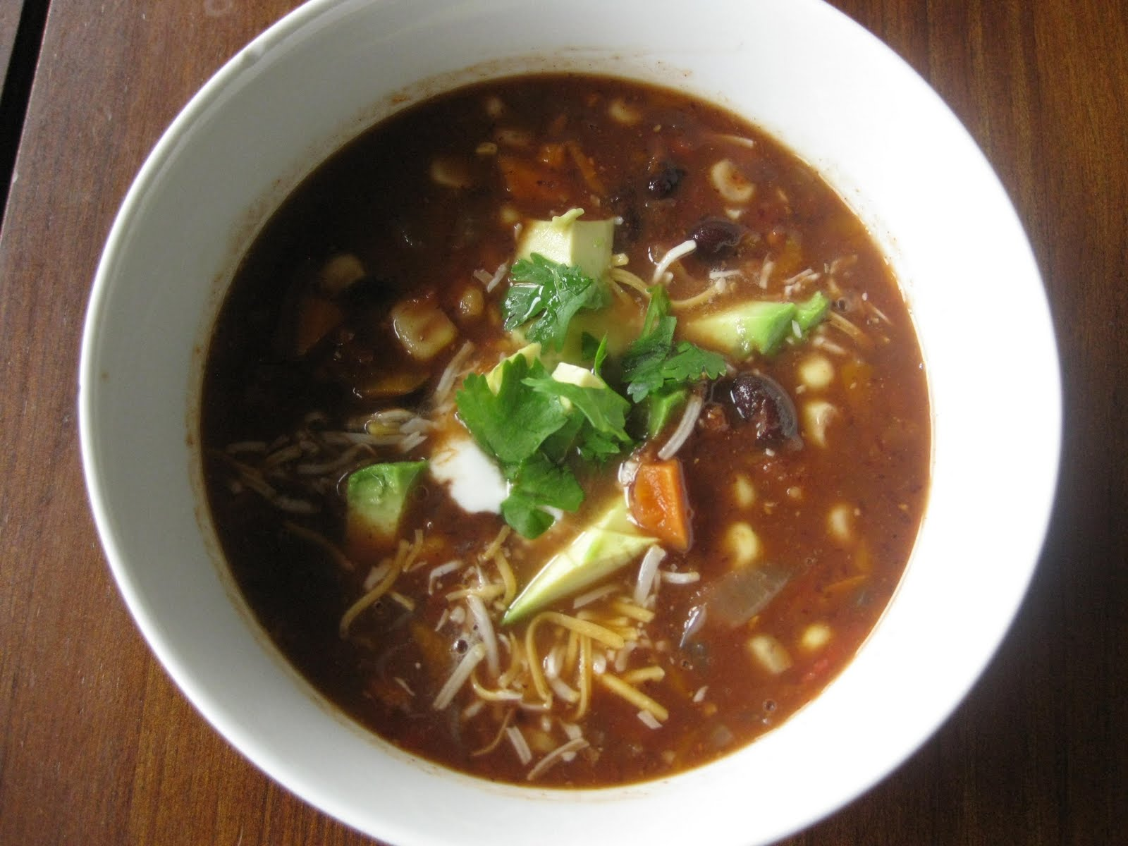 Hundred Healthy Dinners: Black Bean Vegetable Soup