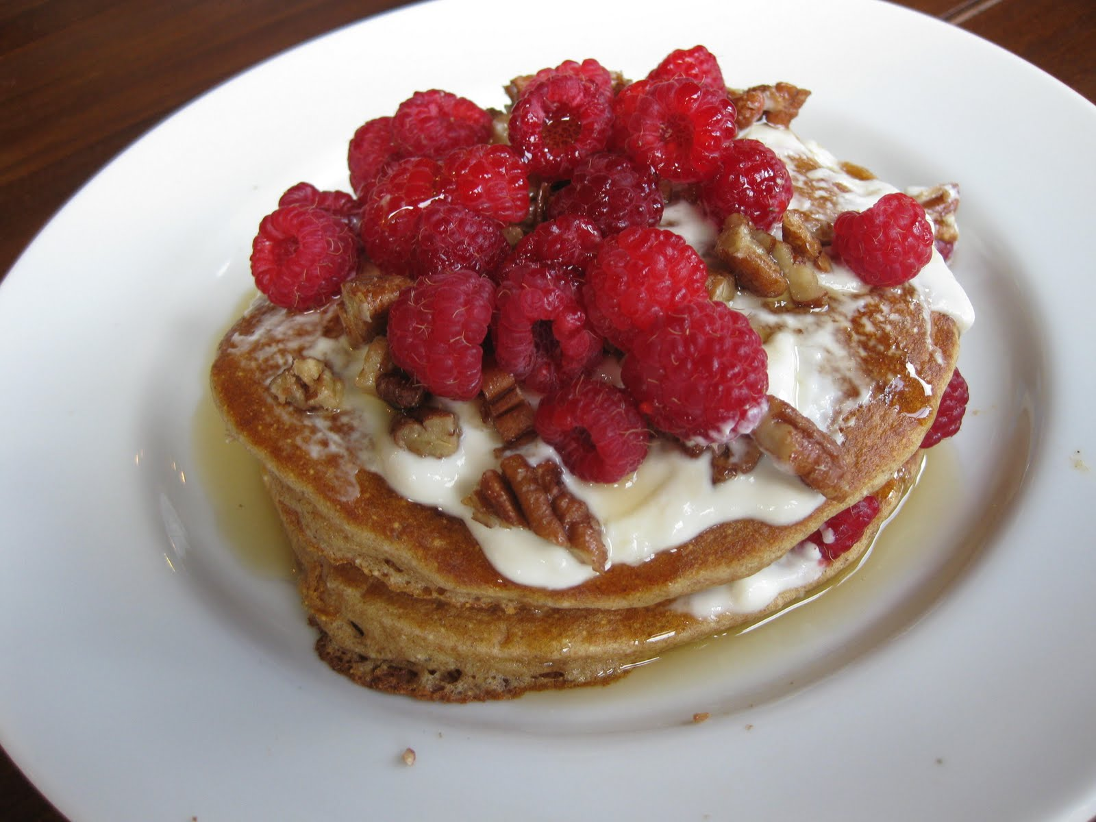 Hundred Healthy Dinners: Raspberry Almond Pancakes