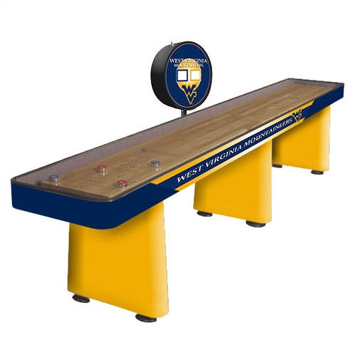 WEST VIRGINIA UNIVERSITY Shuffleboard Table | University Shuffleboard ...