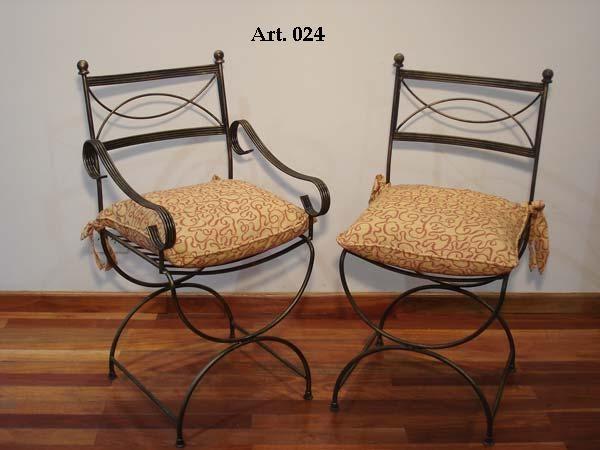 Herreria artistica torres sillas y sillones for Bancas para jardin de herreria