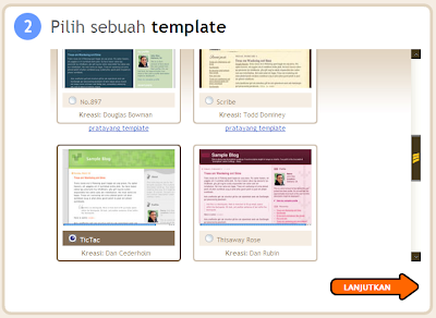 Pilih Template Blog Anda