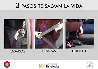 afiche para promover el uso del cinturon de seguridad. correalizado
