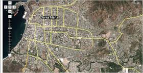 Mapa de Santa Marta
