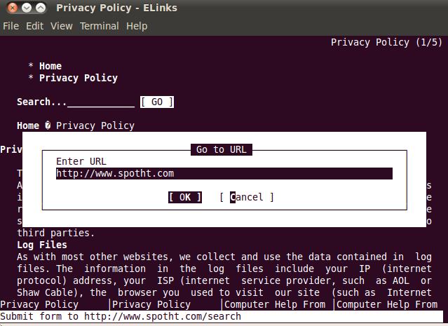Web Access via Terminal in Ubuntu   pacesettergraam