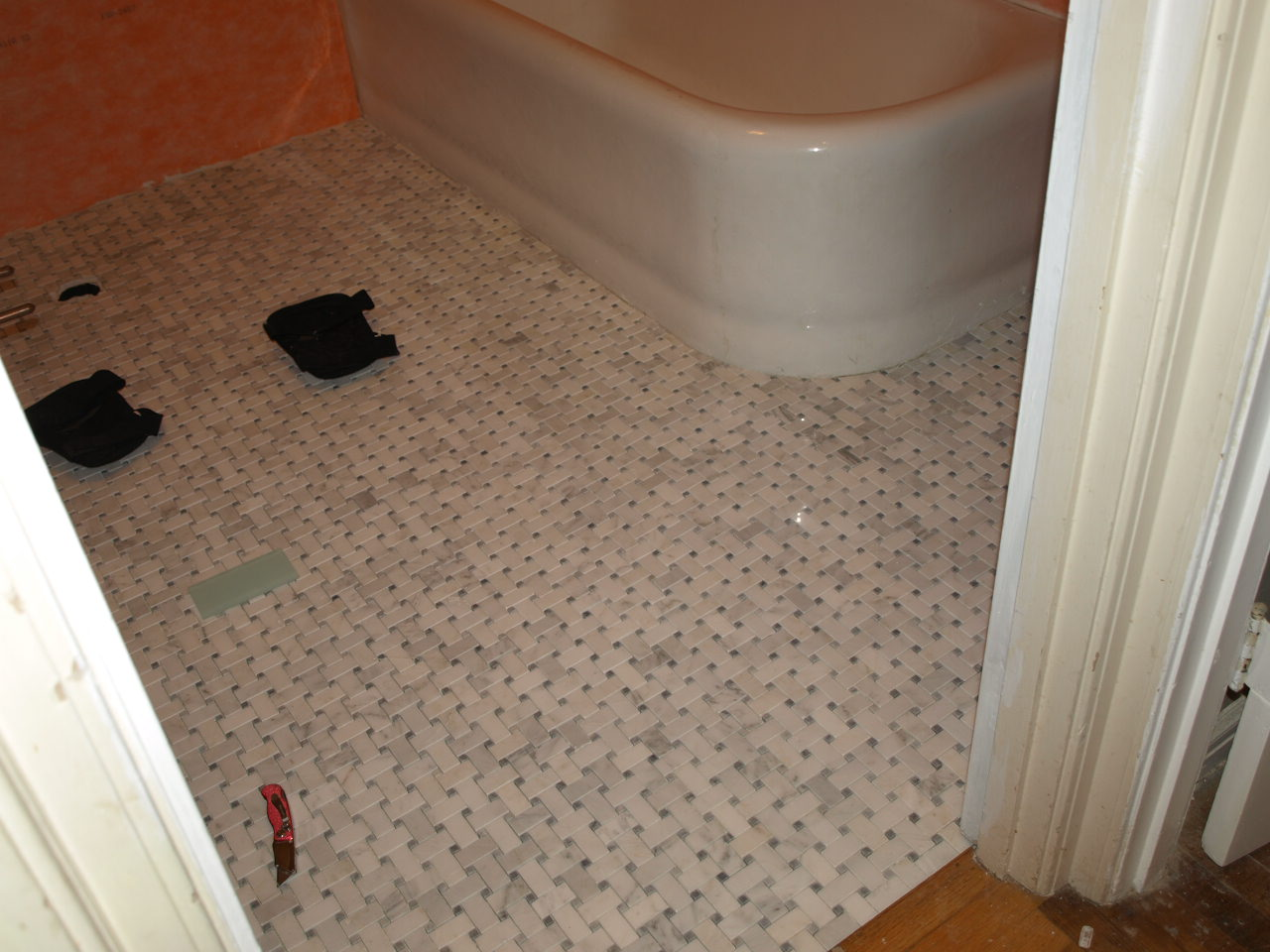 Marble basketweave tile bathroom my web value basketweave is a bitch dailygadgetfo Choice Image