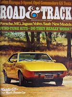 Capa da revista Road & Track de novembro de 1973 que trouxe a inspiração para a canção Red Barchetta: o conto A Nice Morning Drive, de Richard S. Foster