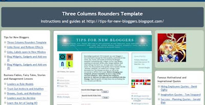 Three Columns Rounders Template