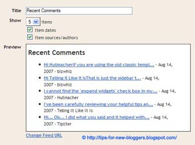 Recent Comments and Recent Posts Widgets