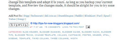 Social Bookmarking Links in Blogger