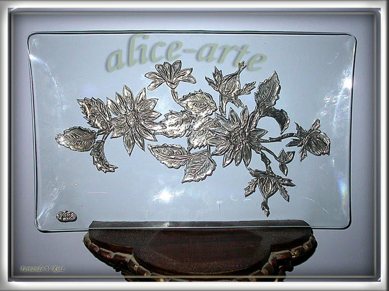Alice arte bandeja de cristal - Bandejas de cristal ...