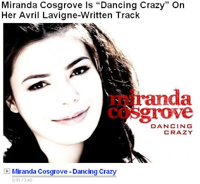 Miranda Cosgrove Dancing Crazy New Song 2010 With Html