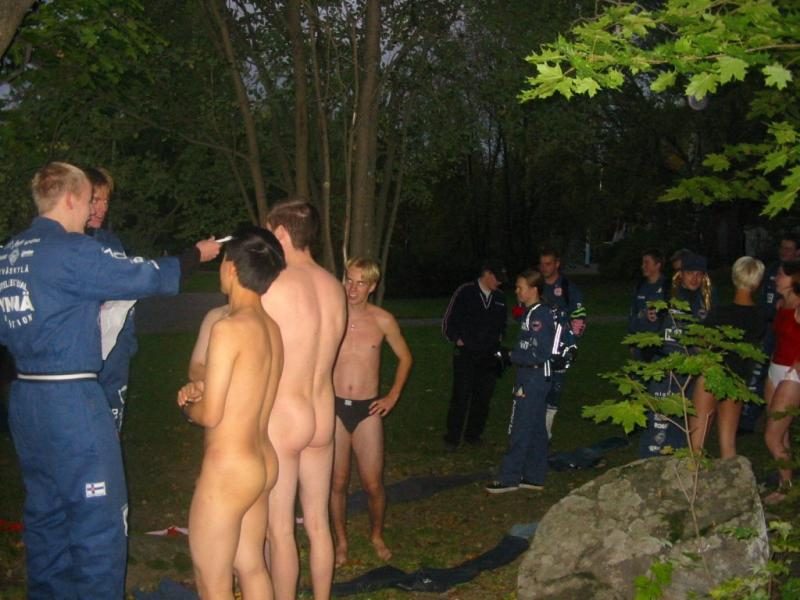 boy naked in park
