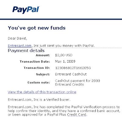 Entrecard Money To Share Newbe