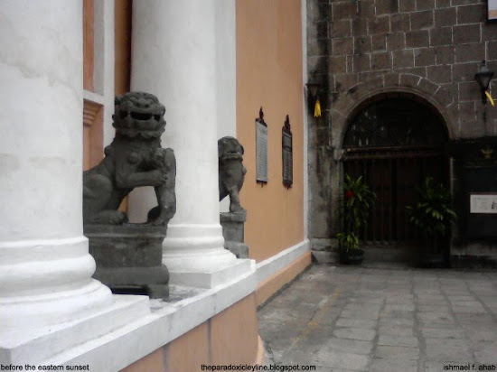 Chinese lions in Intramuros