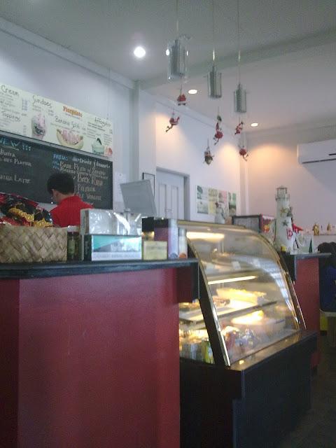 Inside Meksi Coffee shop