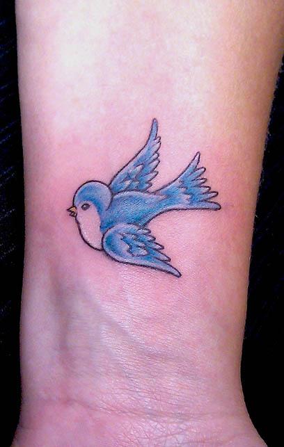 Blue birds tattoo - photo#13