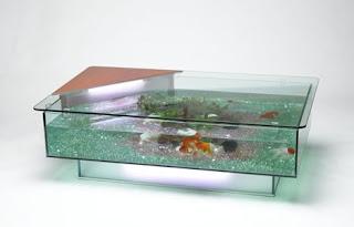 gadgets und ausgefallene geschenke aquarium table. Black Bedroom Furniture Sets. Home Design Ideas