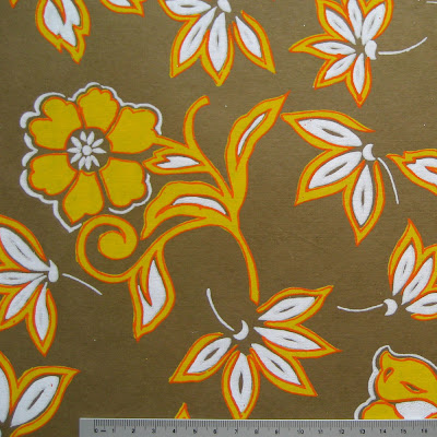 Semikolon Aroma Putty - Yellow flowers patterned Paper