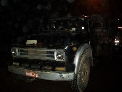 G.C.M.s de Amparo trocam tiros com ladrões de caminhão