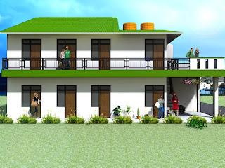 Desain Rumah Kost Sederhana Modern