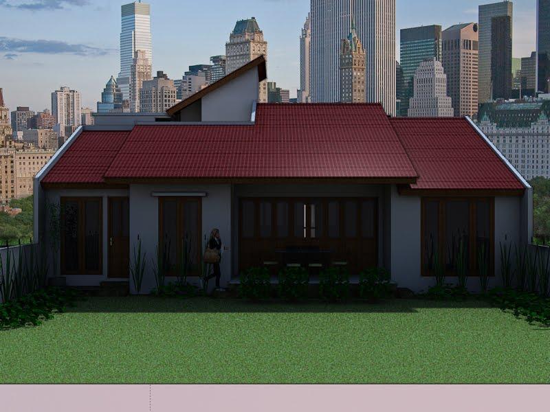 kumpulan desain rumah berkebun rumah minimalis dengan