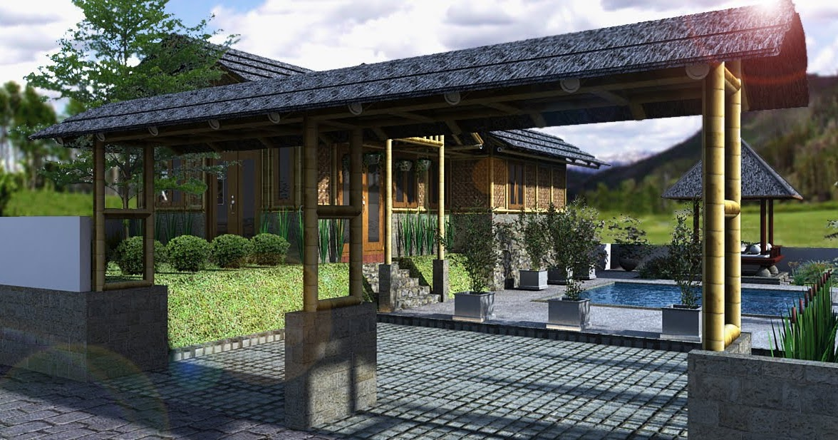 panduan bangunan rumah desain rumah bambu di cirebon