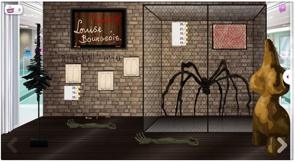 stardoll actu nouveau magasin louise bourgeois tribute. Black Bedroom Furniture Sets. Home Design Ideas