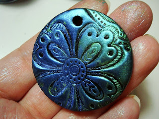 Altered alchemy make a simple pendant with polymer clay now this is the reason why i prefer darker clay it brings out the pearl ex powder better than light colored clays mozeypictures Image collections