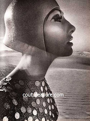Hiro fashion photograph, 1960s, Anne Rubin sweater, Mr. John hat