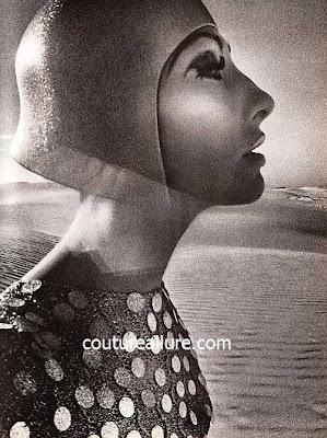 Hiro fashion photograph, 1960s, Anne Rubin sweater, Mr. John hat