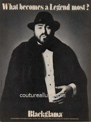1981 blackglama mink fur coat Pavarotti