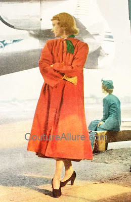 1940s orange swing coat