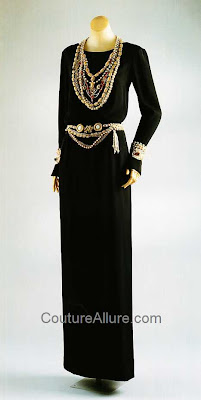 chanel evening gown, 1983, karl lagerfeld first collection