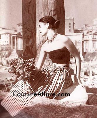carolyn schnurer skirt and top, 1949