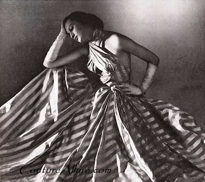 1946, charles montaigne, evening gown
