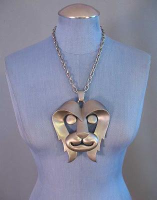 pierre cardin, mod, vintage necklace