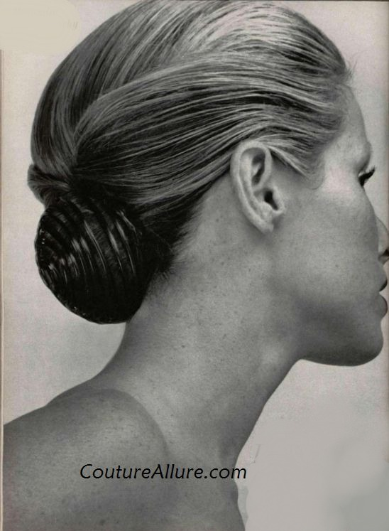 Couture allure vintage fashion the chignon 1973