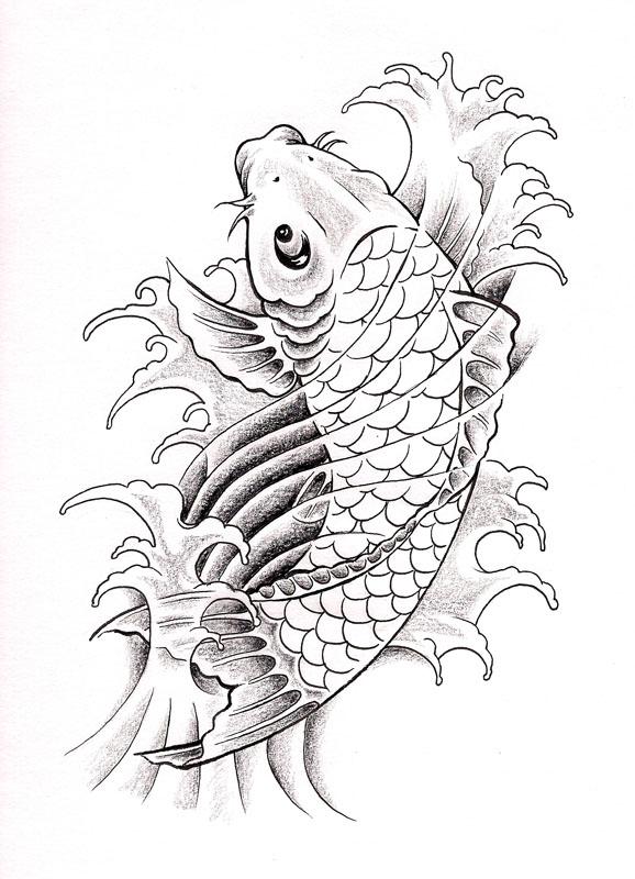 Art school and arkansas september 2010 for Koi fish outline
