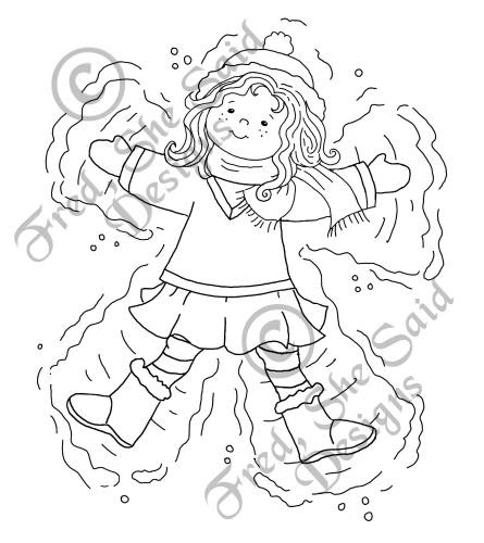 angel coloring pages for preschool - fred she said designs the store emma the snow angel