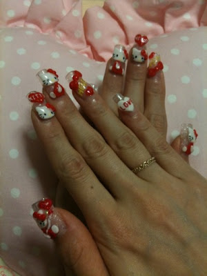 hello kitty nails. hello kitty nails.