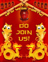 chinese new year invitation cards