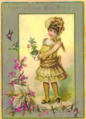Victorian New Year Card Collection